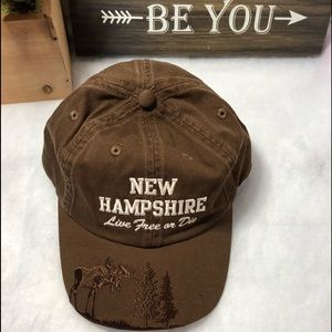 New Hampshire Live free or die Hat Brown